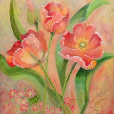 Tulpen | Olieverf op doek 40x50 cm | € 100,--
