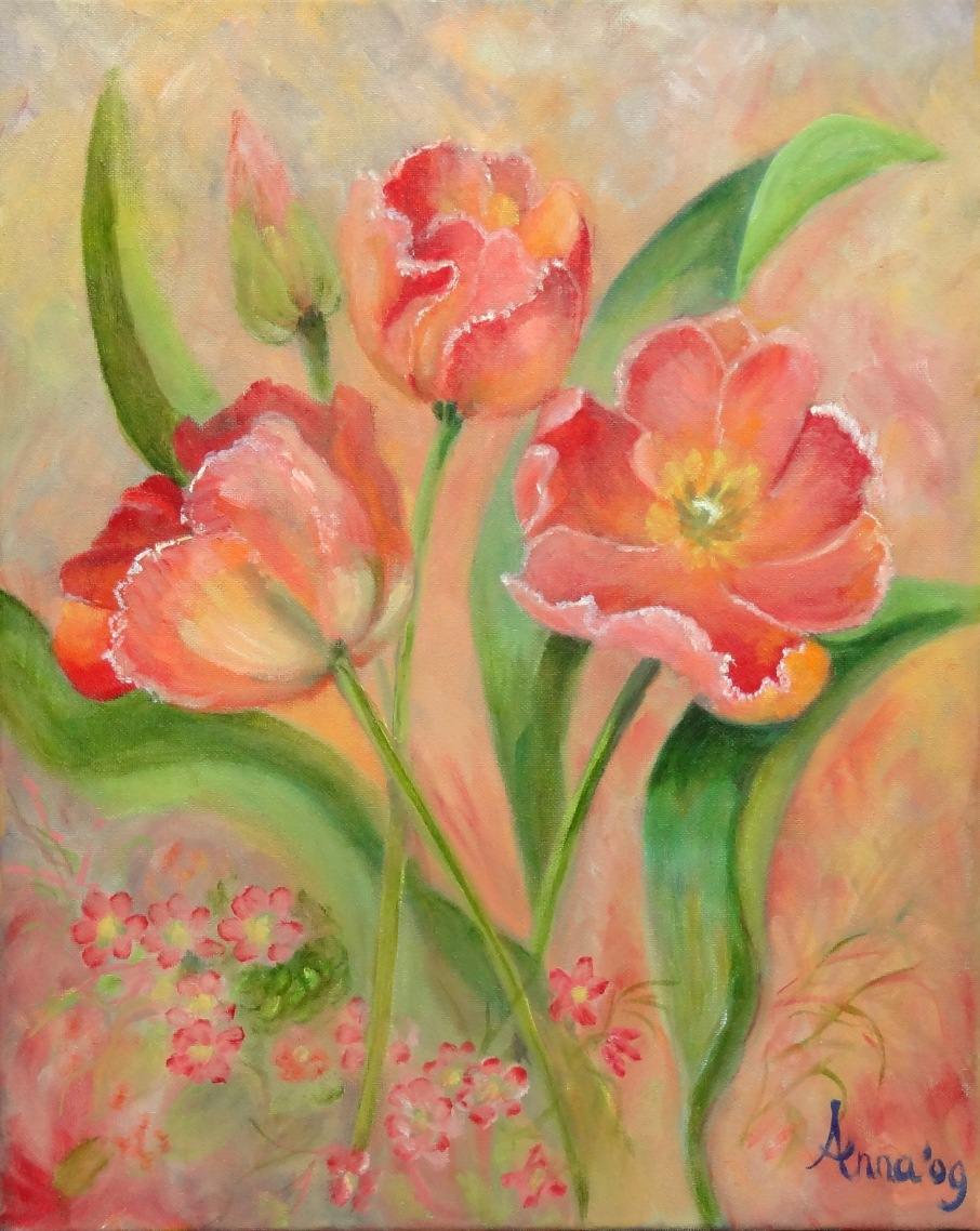 Tulpen | Olieverf op doek 40x50 cm