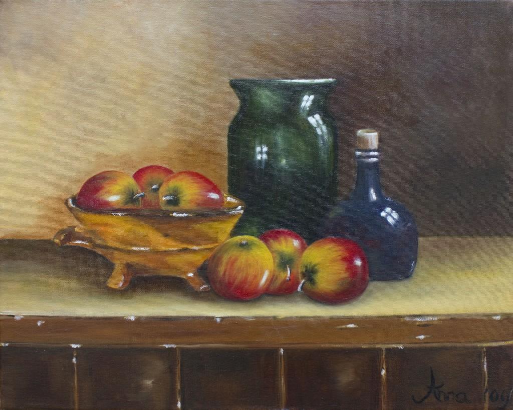 Stilleven met appels | Olieverf op doek 40x50 cm
