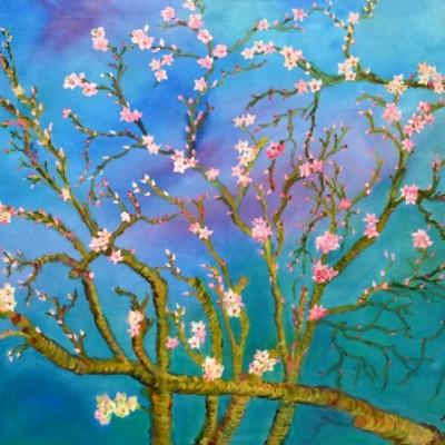 Bloesems in de lente, 2013, Olieverf op doek,80x60cm | € 250,--
