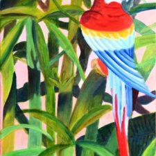 Papegaai | 2012 | Olieverf op doek | 40 x 80 cm | € 250,--