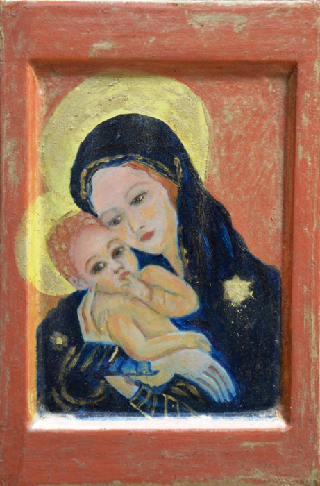 Icoon | Madonna met kind | 1999 | 12×18 cm