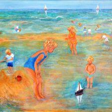 Strandtafereel | 1999 | Olievef op doek | 50×70 cm | ntk