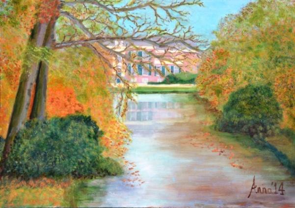 Groeneveld, 2014, olieverf op paneel, 35x50 cm, € 150,--