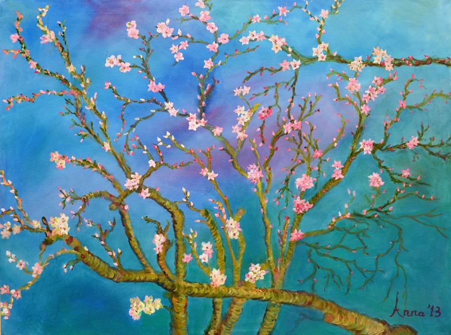 Bloesems in de lente | 2013 | Olieverf op doek | 80x60 cm